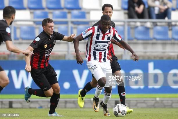 Luigi Bruins of Excelsior Karim Coulibaly of Willem II during the Dutch Eredivisie match between Willem II Tilburg and sbv Excelsior at Koning Willem...