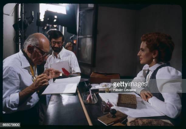 Luigi Commencini and Giuliana De Sio on the Set of the Movie Heart