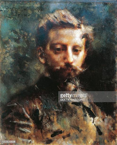 Luigi Conconi Portrait of Primo Levi 1880 circa oil on canvas 69x50 cm
