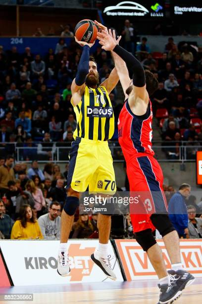 Luigi Datome #70 of Fenerbahce Dogus Istanbul in action during the 2017/2018 Turkish Airlines EuroLeague Regular Season game between Baskonia Vitoria...