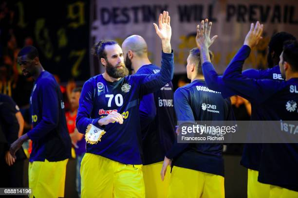 Luigi Datome #70 of Fenerbahce Istanbul before the Championship Game 2017 Turkish Airlines EuroLeague Final Four between Fenerbahce Istanbul v...