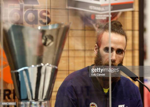 Luigi Datome #70 of Fenerbahce Istanbul during the 2017 Turkish Airlines Euroleague Final Four Istanbul Adidas Trophy Tour at Adidas Store on May 20...