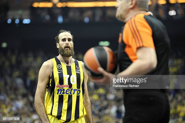 Luigi Datome #70 of Fenerbahce Istanbul during the Turkish Airlines Euroleague Basketball Final Four Berlin 2016 Championship game between Fenerbahce...