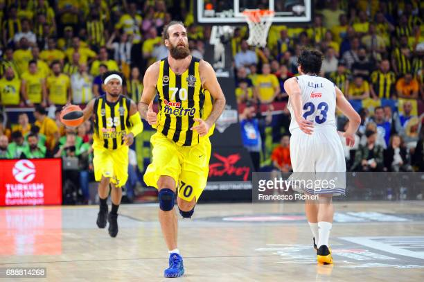 Luigi Datome #70 of Fenerbahce Istanbul during the Turkish Airlines EuroLeague Final Four Semifinal A game between Fenerbahce Istanbul v Real Madrid...