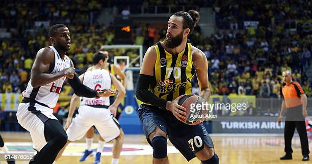 Luigi Datome #70 of Fenerbahce Istanbul in action during the 2016/2017 Turkish Airlines EuroLeague Regular Season Round 1 game between Fenerbahce...