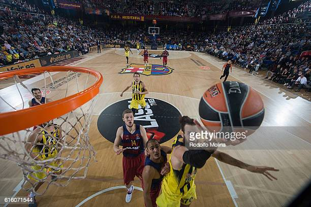 Luigi Datome #70 of Fenerbahce Istanbul in action during the 2016/2017 Turkish Airlines EuroLeague Regular Season Round 2 game between FC Barcelona v...
