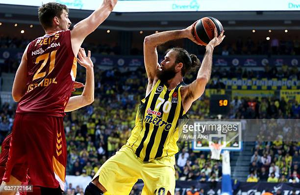 Luigi Datome #70 of Fenerbahce Istanbul in action during the 2016/2017 Turkish Airlines EuroLeague Regular Season Round 20 game between Fenerbahce...