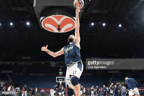 Luigi Datome #70 of Fenerbahce Istanbul in action during the 2017 Turkish Airlines EuroLeague Final Four Real Madrid Practice at Sinan Erdem Dome on...