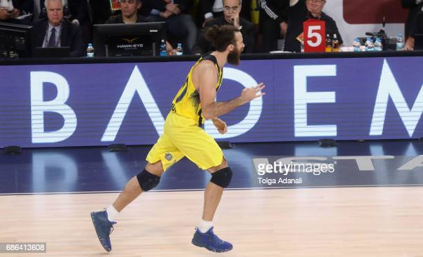 Luigi Datome #70 of Fenerbahce Istanbul in action during the Championship Game 2017 Turkish Airlines EuroLeague Final Four between Fenerbahce...