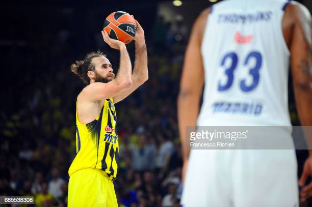 Luigi Datome #70 of Fenerbahce Istanbul in action during the Turkish Airlines EuroLeague Final Four Semifinal A game between Fenerbahce Istanbul v...