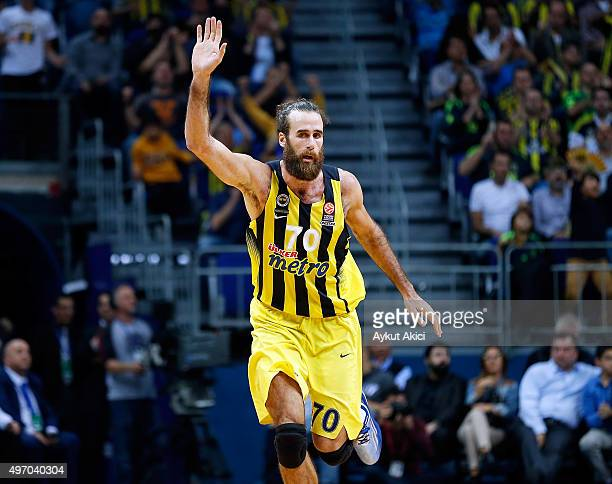 Luigi Datome #70 of Fenerbahce Istanbul in action during the Turlish Airlines Euroleague Regular Season date 5 game between Fenerbahce Istanbul v...