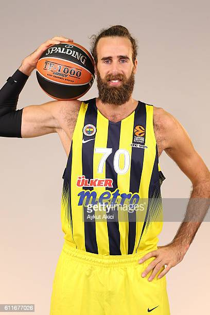 Luigi Datome #70 of Fenerbahce Istanbul poses during the 2016/2017 Turkish Airlines EuroLeague Media Day at Fenerbahce Ulker Sports Arena on...