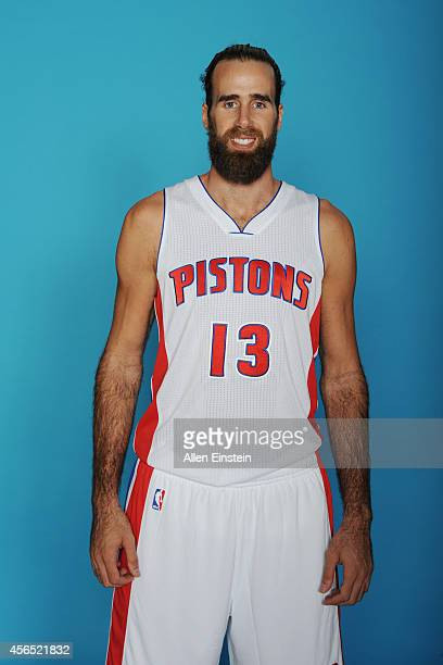 Luigi Datome of the Detroit Pistons poses during Detroit Pistons Media Day on September 29 2014 in Auburn Hills Michigan NOTE TO USER User expressly...