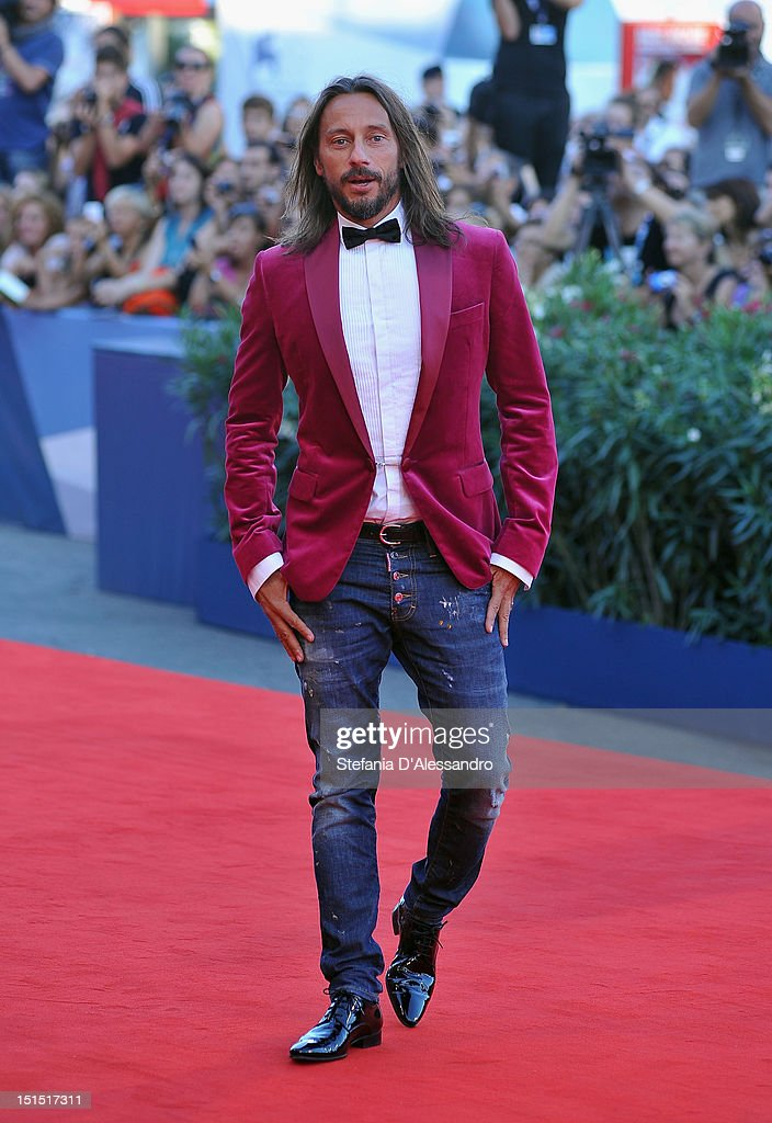 """Luigi De Laurentiis"" Venice Award for a Debut Film Jury member <a gi-track='captionPersonalityLinkClicked' href=/galleries/search?phrase=Bob+Sinclar&family=editorial&specificpeople=2076892 ng-click='$event.stopPropagation()'>Bob Sinclar</a> attends the Award Ceremony and 'L'Homme Qui Rit' Arrivals during The 69th Venice Film Festival at the Palazzo del Cinema on September 8, 2012 in Venice, Italy."