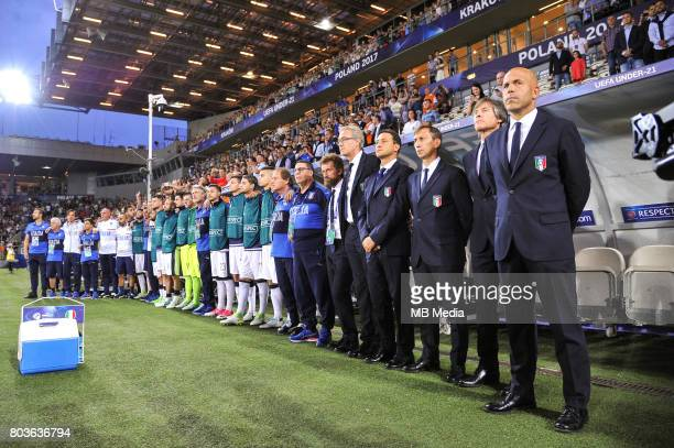 Luigi Di Biagio during the UEFA European Under21 match between Spain and Italy on June 27 2017 in Krakow Poland