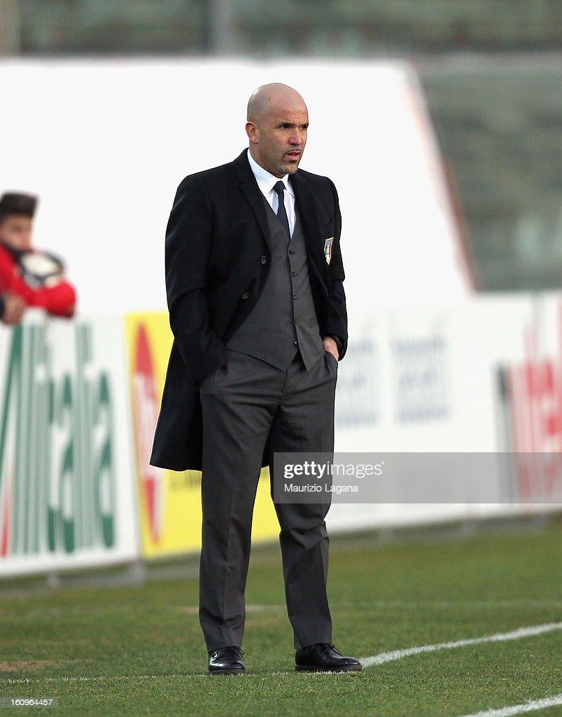 Luigi Di Biagio head coach of Italy during U20 International Friendly match between Italy and Germany at Stadio Cosimo Puttilli on February 6, 2013 in Barletta, Italy.