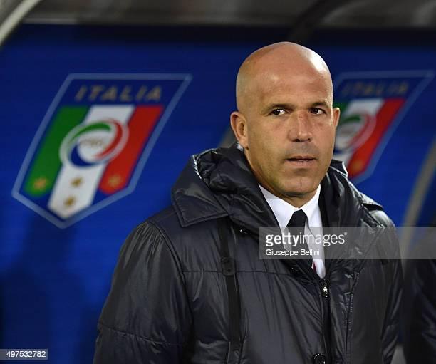 L'AQUILA ITALY NOVEMBER 17 Luigi Di Biagio head coach of Italy U21 during the 2017 UEFA European U21 Championships Qualifier between Italy U21 and...