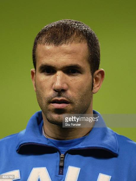 Luigi Di Biagio of Italy lines up before the Italy v Ecuador Group G World Cup Group Stage match played at the Sapporo Dome Sapporo Japan on June 3...