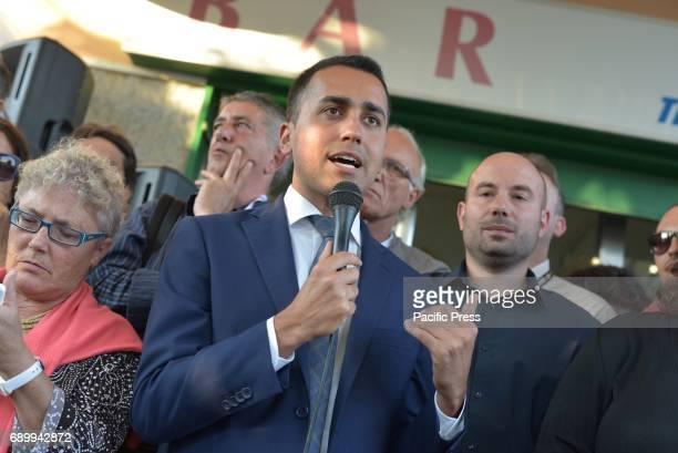 MONTERUSCELLO POZZUOLI NAPOLI ITALY Luigi Di Maio during his election campaign in favor of mayor candidate Antonio Caso of the 'Movimento 5 Stelle'