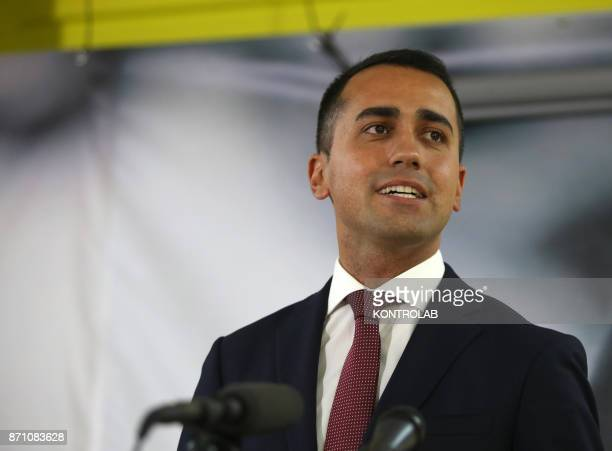 Luigi Di Maio during the press conference after the Regional vote in Sicily