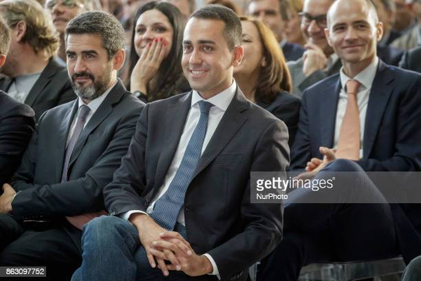 Luigi Di Maio M5S leader attends a press conference in Rome Italy on October 19 2017 Rome will be hosting a Formula E world championship race next...