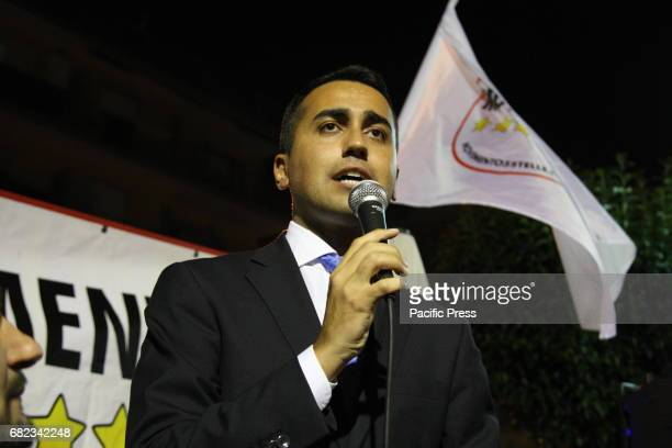 Luigi Di Maio VicePresident of the Chamber of Deputies during the Election campaign at Arzano of the 'Movimento Cinque Stelle'