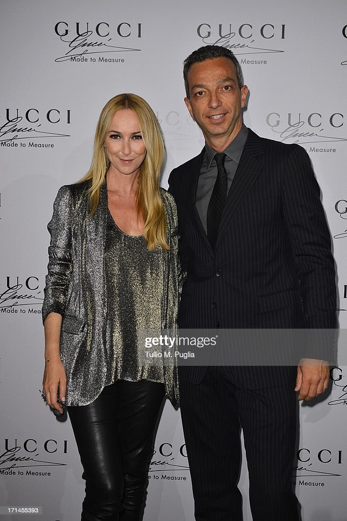 Luigi Feola and Frida Giannini attend 'Gucci Made to Measure Launch' on June 24, 2013 in Milan, Italy.