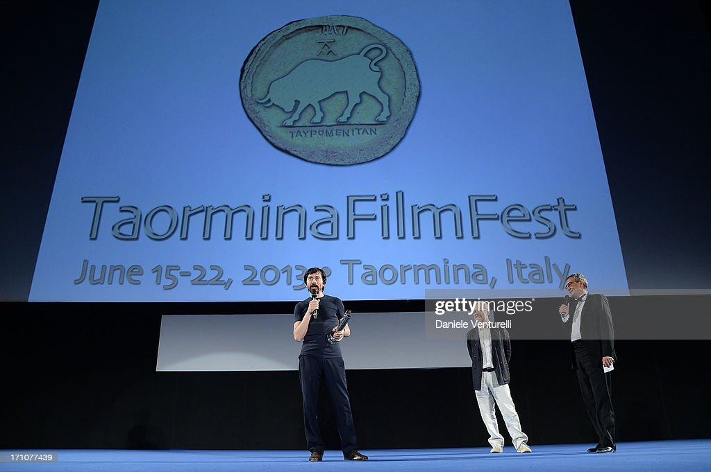 <a gi-track='captionPersonalityLinkClicked' href=/galleries/search?phrase=Luigi+Lo+Cascio&family=editorial&specificpeople=2259529 ng-click='$event.stopPropagation()'>Luigi Lo Cascio</a> attends Taormina Filmfest 2013 at Teatro Antico on June 21, 2013 in Taormina, Italy.