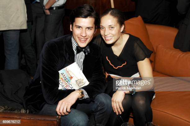 Luigi Tadini and MeiLi da Silva Vint attend APRIVATECLUBCOM Hosts ASSOULINE Book Launch at Hudson Hotel Library on March 24 2009 in New York City