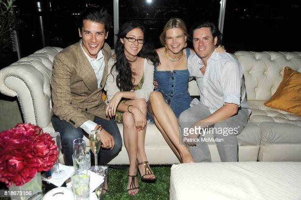Luigi Tadini Julia Erdman Kate Schelter and Chris Schumacher attend SALVATORE FERRAGAMO ATTIMO Launch Event at The Standard Hotel on June 30 2010 in...