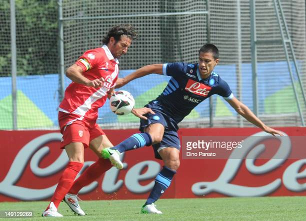 Luigi Vitale of Napoli in action during the preseason friendly match between SSC Napoli and US Grosseto on July 23 2012 in Dimaro near Trento Italy