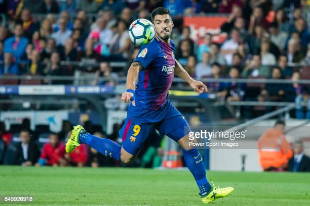 Luis Alberto Suarez Diaz of FC Barcelona in action during the La Liga match between FC Barcelona vs RCD Espanyol at the Camp Nou on 09 September 2017...