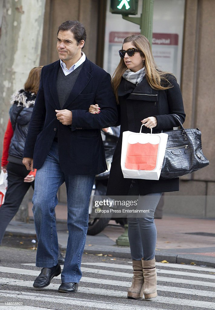 Luis Alfonso de Borbon and Margarita Vargas are seen on December 18, 2012 in Madrid, Spain.