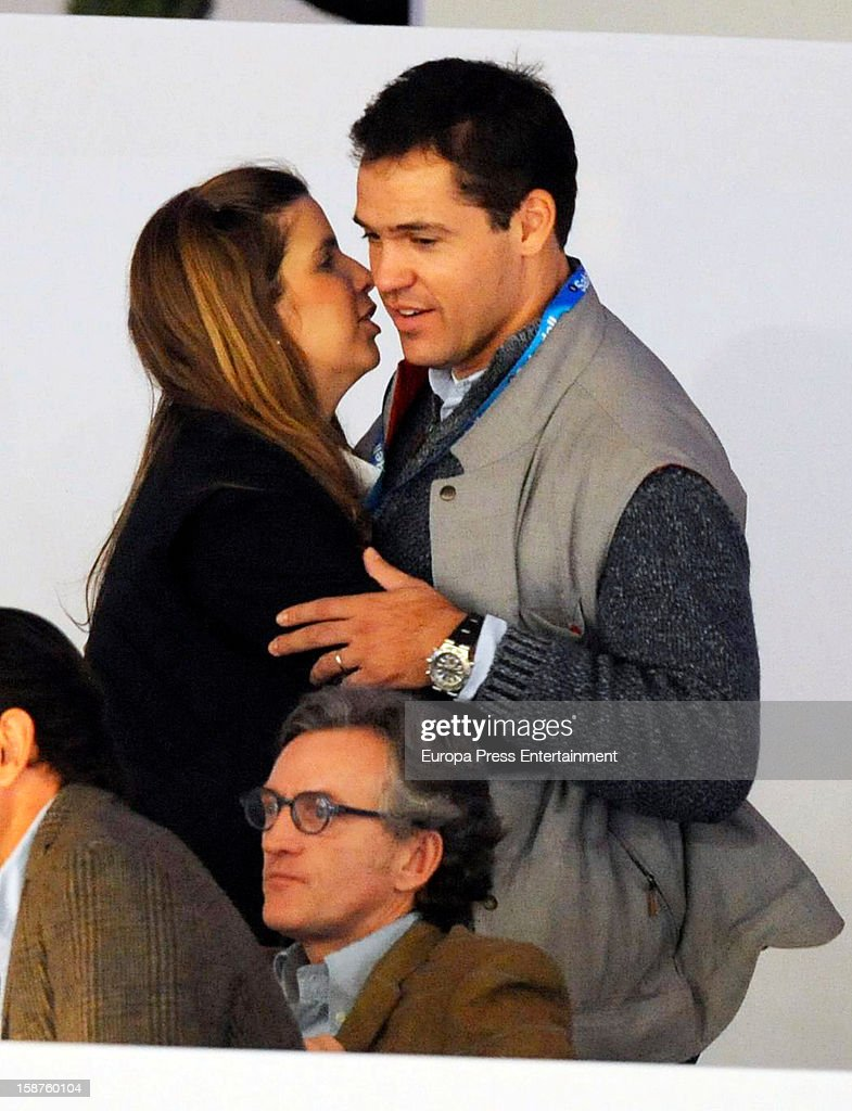 Luis Alfonso de Borbon and Margarita Vargas attend Madrid Horse Week Fair 2012 at Ifema on December 21, 2012 in Madrid, Spain.
