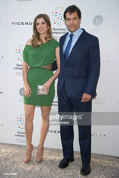 Luis Alfonso de Borbon and wife Margarita Vargas attend 'Un Momento En Mi Vida' book presentation at 'Casa Monico' restaurant on May 29 2012 in...