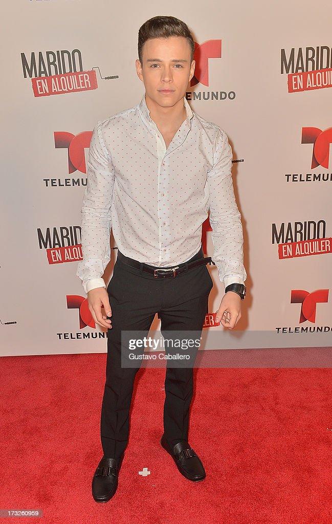 Luis Alvarez attends Telemundos 'Marido en Alquiler' Presentation on July 10, 2013 in Miami, Florida.