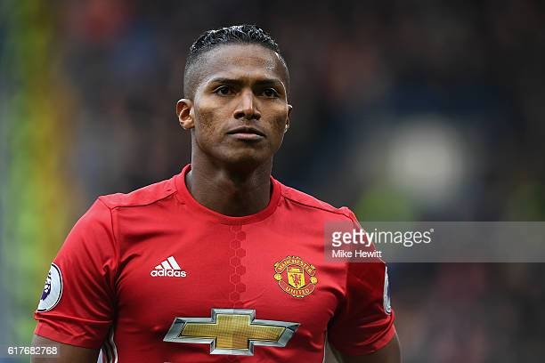 Luis Antonio Valencia of Manchester United in action during the Premier League match between Chelsea and Manchester United at Stamford Bridge on...