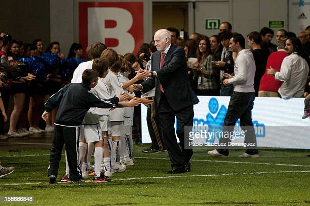 Luis Aragones attends 'Partido X La Ilusion' by Iker Casillas Foundation at Palacio de los Deportes on December 23 2012 in Madrid Spain