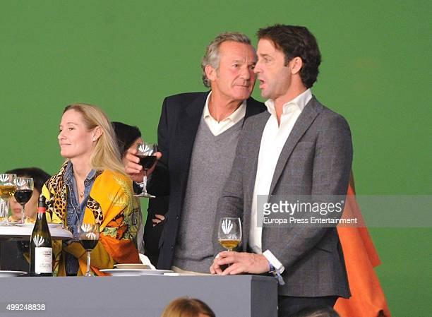 Luis Astolfi Fiona Ferrer and Alvaro Munoz Escassi are seen at Madrid Horse Week on November 29 2015 in Madrid Spain