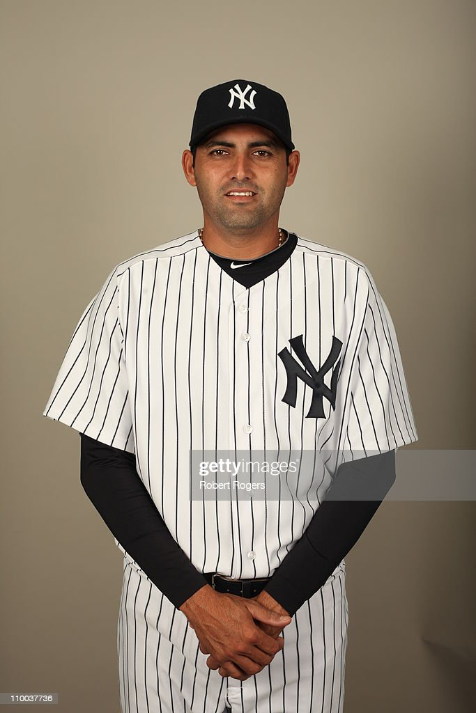 <a gi-track='captionPersonalityLinkClicked' href=/galleries/search?phrase=Luis+Ayala&family=editorial&specificpeople=209039 ng-click='$event.stopPropagation()'>Luis Ayala</a> #43 of the New York Yankees poses during Photo Day on Wednesday, February 23, 2011 at Steinbrenner Field in Tampa, Florida.