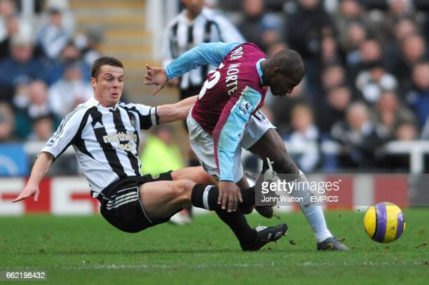 Luis Boa Morte West Ham United and Scott Parker Newcastle United battle for the ball