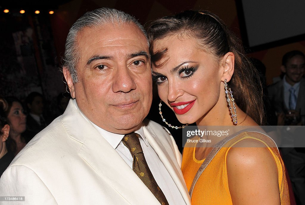 Luis Bravo and <a gi-track='captionPersonalityLinkClicked' href=/galleries/search?phrase=Karina+Smirnoff&family=editorial&specificpeople=4029232 ng-click='$event.stopPropagation()'>Karina Smirnoff</a> pose at the 'Forever Tango' opening night party at Planet Hollywood Times Square on July 14, 2013 in New York City.