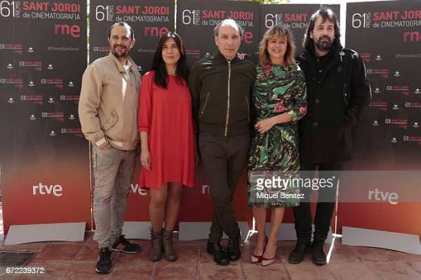 Luis Callejo Isa Campo Eusebio Poncela Emma Suarez and Isaki Lacuesta attend the press conference of 'Sant Jordi' Cinematography Awards 2017 at Arts...