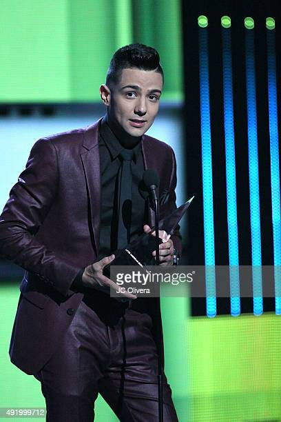 Luis Coronel accepts the award for 'Favorite Regional Mexican Male Artist' onstage during Telemundo's Latin American Music Awards 2015 at Dolby...