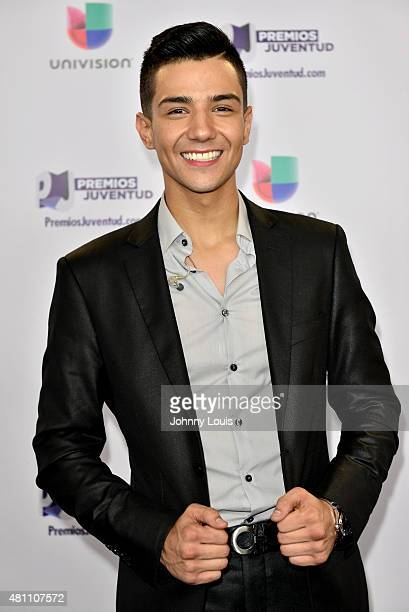 Luis Coronel backstage at Univision's Premios Juventud 2015 at Bank United Center on July 16 2015 in Miami Florida