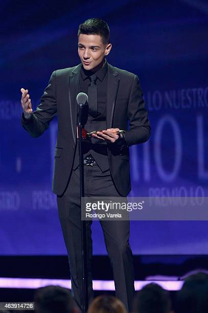 Luis Coronel onstage at the 2015 Premios Lo Nuestros Awards at American Airlines Arena on February 19 2015 in Miami Florida