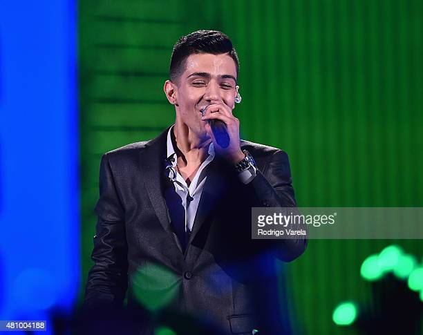 Luis Coronel performs onstage at Univision's Premios Juventud 2015 at Bank United Center on July 16 2015 in Miami Florida