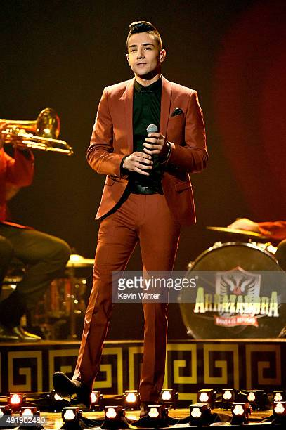 Luis Coronel performs onstage during Telemundo's Latin American Music Awards at the Dolby Theatre on October 8 2015 in Hollywood California