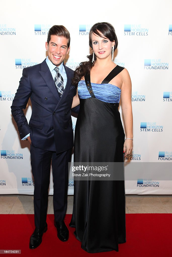Luis D. Ortiz and Katrina Novakova attend the 2nd Annual Blue Horizon Foundation gala at Guastavino's on October 15, 2013 in New York City.