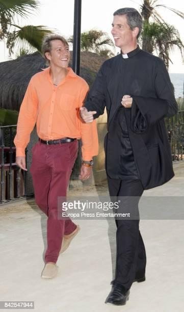 Luis de Luxemburgo from The Grand Ducal Family of Luxembourg is seen having dinner the day before the wedding of MarieGabrielle of Nassau on...